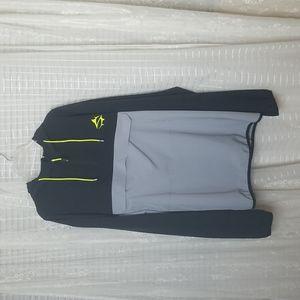 Loco Skailz Hooded Long Sleeve Fishing Shirt With Kangaroo Pouch SzXXL